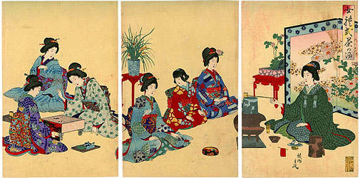 女礼式茶の湯 / 周延