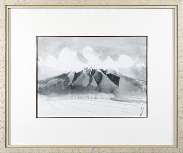 斜里岳(街道をゆく) / 安野光雅