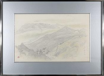 群馬 雨の赤谷湖 / 奥村土牛