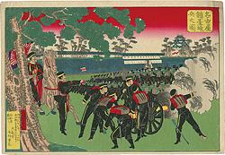 名古屋鎮台練兵之図 / 広国