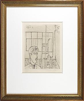 アトリエの人物 / ベルナール・ビュフェ