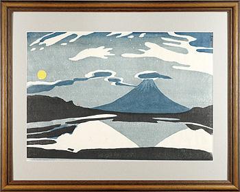 月富士(精進湖) / 川西英