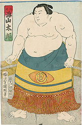 相撲絵 土州 海山太郎 / 国明