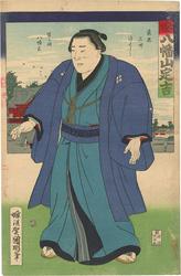 相撲絵 土州 八幡山定吉 / 国明