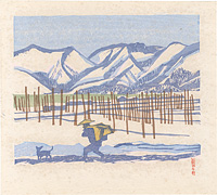 湖畔の雪(雪の余吾湖) / 前川千帆