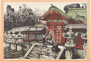 東京風景 芝御霊屋 / 織田一磨