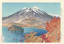 信濃十景 野尻湖畔の秋 / 伊東深水