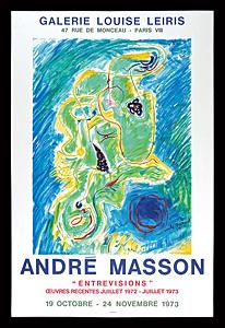 アンドレ・マッソン 展覧会ポスター ◆ リトグラフ 1973年 ムルロ工房