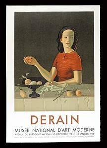 アンドレ・ドラン 展覧会ポスター ◆ リトグラフ 1955年 ムルロ工房 フランス国立近代美術館