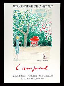 ジャン=ピエール・カシニョール 展覧会ポスター ◆ リトグラフ 1987年 デジョベール工房