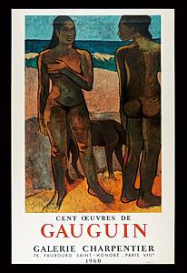 ポール・ゴーギャン 展覧会ポスター ◆ リトグラフ 1960年 ムルロ工房
