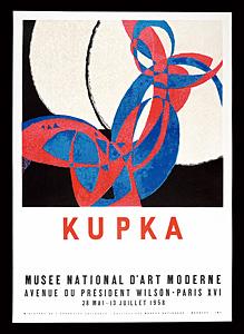 フランチシェク・クプカ 展覧会ポスター ◆ リトグラフ 1958年 パリ国立近代美術館