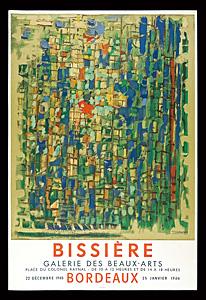 ロジェ・ビシエール 展覧会ポスター ◆ リトグラフ 1966年 ムルロ工房