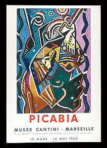 フランシス・ピカビア 展覧会ポスター ◆ リトグラフ 1962年 ムルロ工房