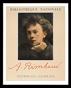 アルチュール・ランボー 展覧会ポスター ◆ リトグラフ 1954年 ムルロ工房 フランス国立図書館