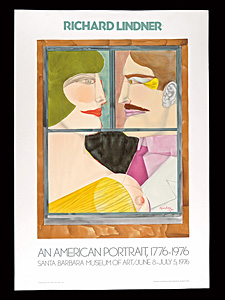 リチャード・リンドナー 展覧会ポスター ◆ リトグラフ 1976年 ムルロ工房 サンタバーバラ美術館