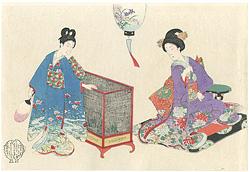 婦人風俗 虫籠(仮題) / 周延