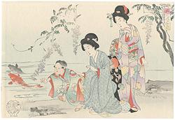 婦人風俗鏡 皐月(仮題) / 周延