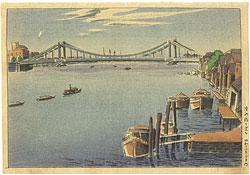 清洲橋を望む / 石渡江逸(庄一郎)