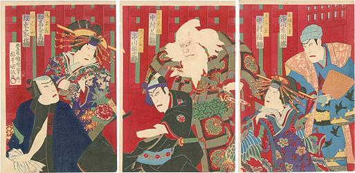 助六由縁江戸桜 / 国政四代
