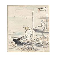 【自筆画色紙】伊東深水(日本画家・版画家)