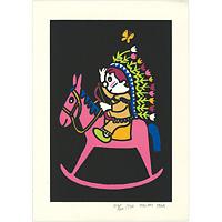 多田ヒロシ ◆ 漫画家の絵本の会版画集第1集より 昭和51年
