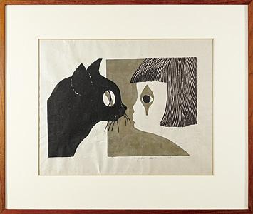 猫と少女 / 斎藤清
