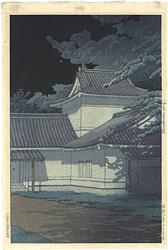 日本風景集 東日本篇 仙台青葉城 / 川瀬巴水