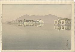 ウダイプールの島御殿 / 吉田博