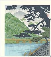 雨の嵐山(仮題) / 徳力富吉郎