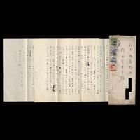 【自筆書簡】豊島与志雄(小説家) *野田宇太郎(詩人)宛