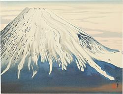 南から見た春の富士 / 定方塊石
