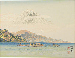 清水港と富士 / 定方塊石