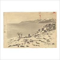 【自筆画稿】橋本邦助(洋画家)「雪の日本海」