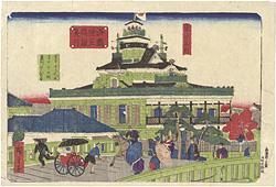 東京名所 海運橋第一国立銀行 / 広重三代