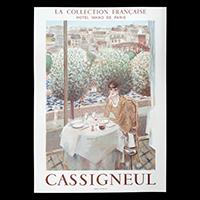 カシニョール展ポスター ホテル日航パリ(1984年・ムルロー工房)