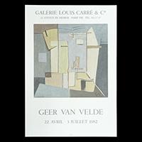 ゲール・ヴァン・ヴェルデ展ポスター(1982年・ムルロー工房)