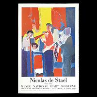 ニコラ・ド・スタール展ポスター(1956年・ムルロー工房)
