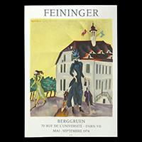 ファイニンガー展ポスター(1974年・ムルロー工房)
