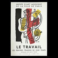 LE TRAVAIL展ポスター(1951年・ムルロー工房)