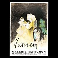 ジャンセン展ポスター(1980年・ムルロー工房)