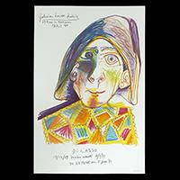 ピカソ展ポスター(1969年・ムルロー工房)