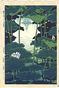 蓮のかげ-不忍池 / 笠松紫浪