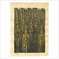 【木版】小松平八「佛像」 ※吉田博の専属摺師