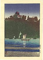 木曽川(犬山) / 川瀬巴水