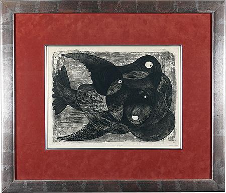 L'oiseau et le fruit / 駒井哲郎
