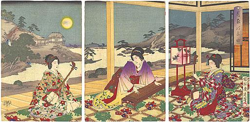 月秋の三曲 / 周延