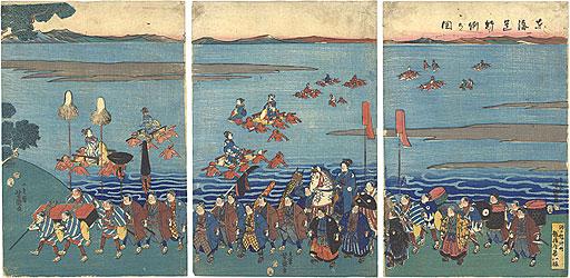 東海道行列の図 / 芳盛