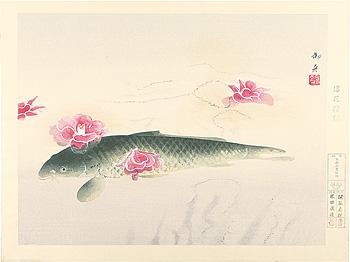 浮花潜鱗(椿花鯉魚) / 速水御舟