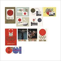 【マキシマムカード】オリンピック東京大会記念(昭和39年)絵葉書・観戦チケット付き